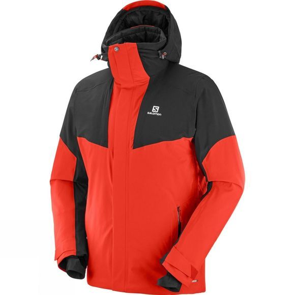 Salomon Mens Icerocket Jacket Fiery Red/Black