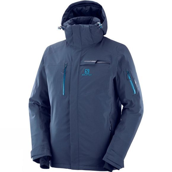 Salomon Mens Brilliant Ski Jacket Night Sky/Lyons Blue