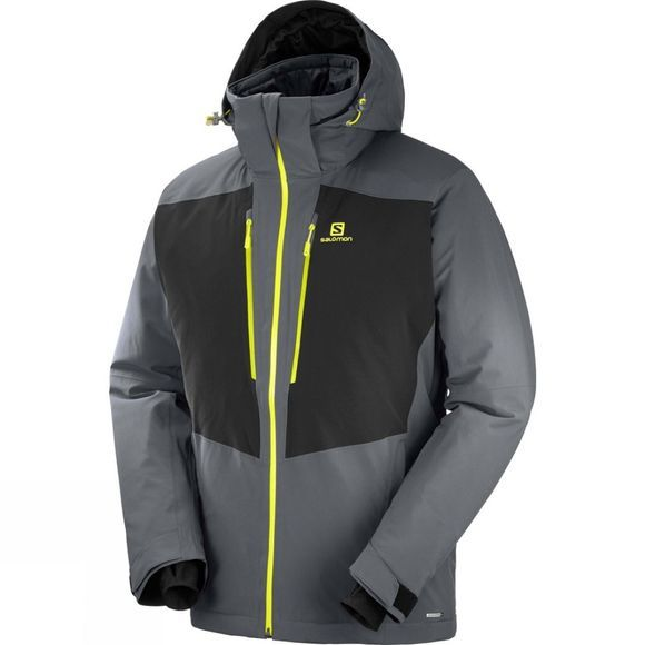 Salomon Mens Icefrost Jacket Forged Iron/Black