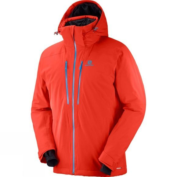 Salomon Mens Icefrost Jacket Fiery Red