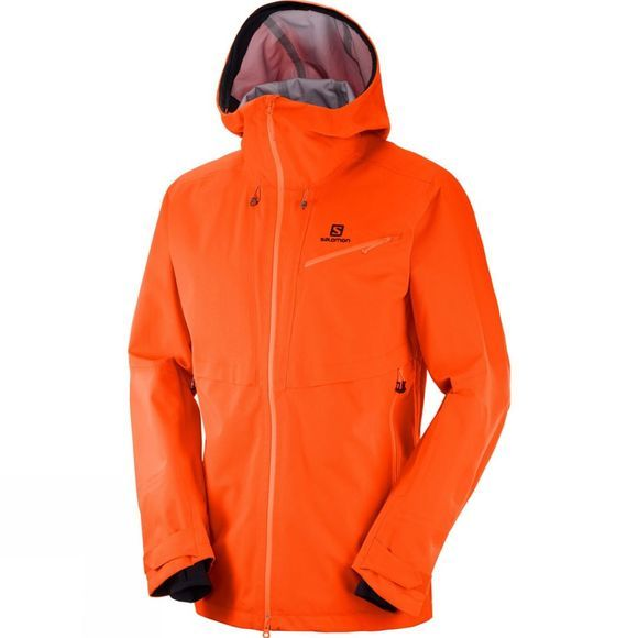 Salomon Mens Qst Guard 3L Jacket Scarlet Ibis