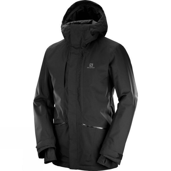 Salomon Mens Qst Snow Jacket Black
