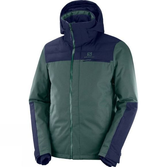 Salomon Stormbraver Jacket Green Gables/Night Sky