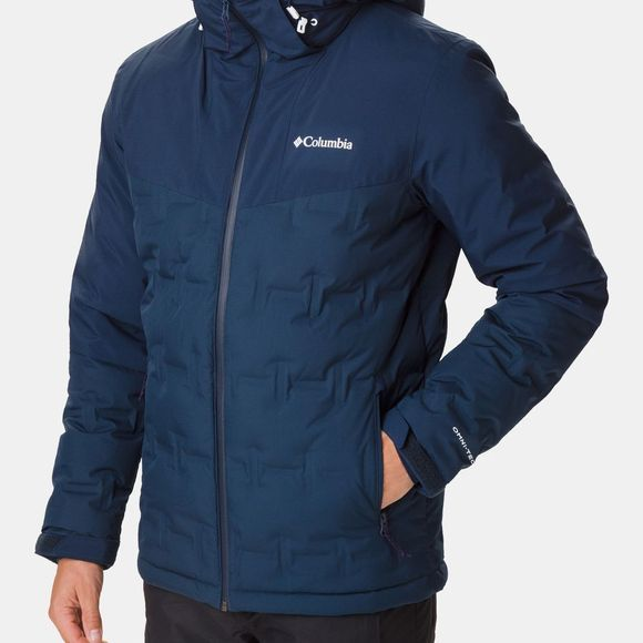 Columbia Mens Wildcard Down  Ski Jacket Collegiate Navy/Grill Heather