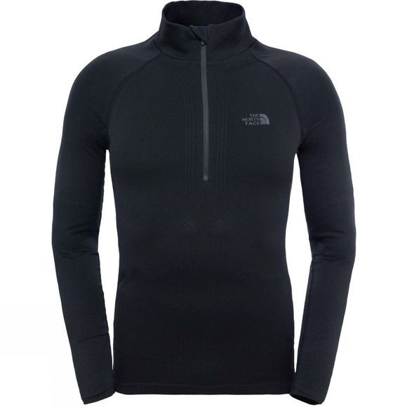 The North Face Mens Hybrid L/S Zip Neck Top TNF Black