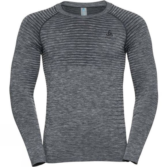 Odlo Mens Performance Light LS Crew Neck Grey Melange
