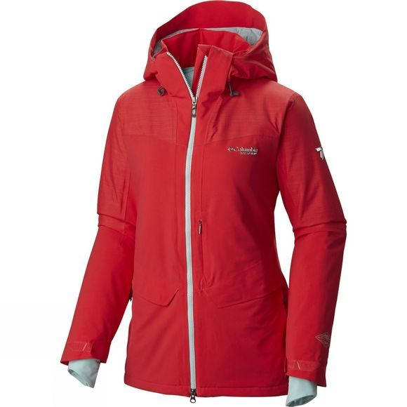 Columbia Womens Carvin Jacket Red Camellia / Spray