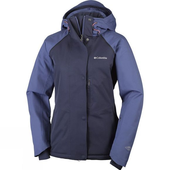 Columbia Womens Mile Summit Jacket Bluebell / Hot Coral