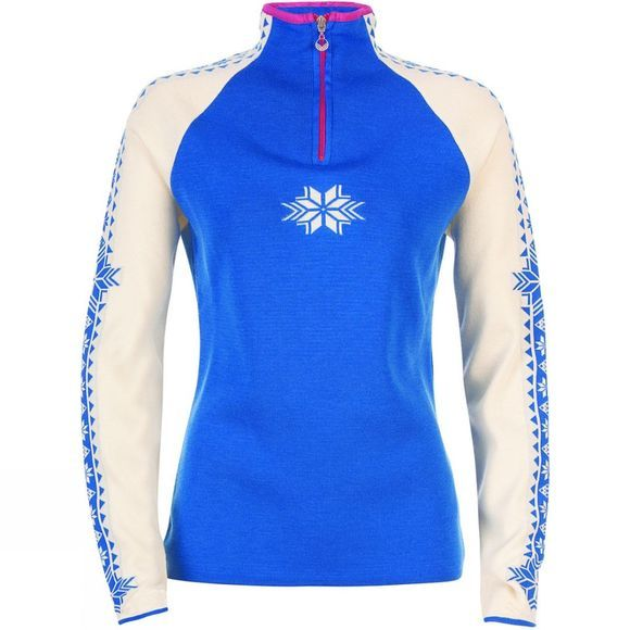 Dale of Norway Womens Geilo Sweater Cobalt/ Off-White
