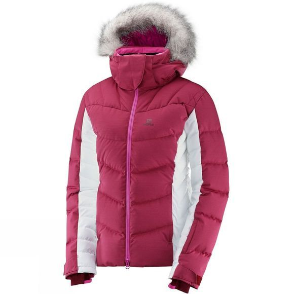 Salomon Womens Icetown Jacket Beet Red