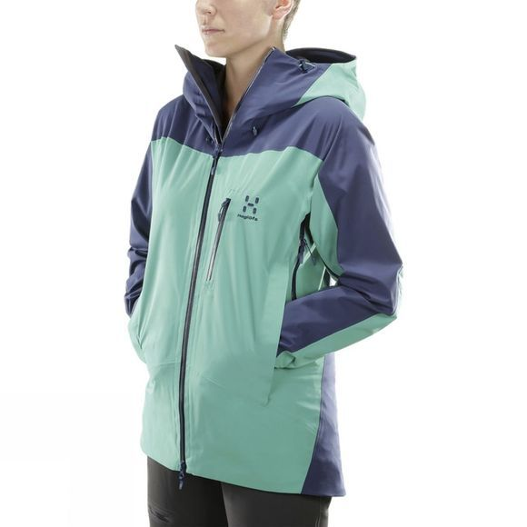 Haglofs Womens Niva Jacket Crystal Lake/Tarn Blue