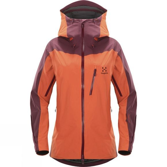 Haglofs Womens Niva Jacket Dusty Rust/Aubergine