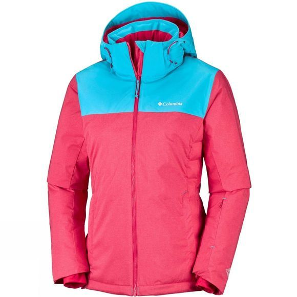 Columbia Womens Snow Dream Jacket  Red Camellia Heather/ Atoll