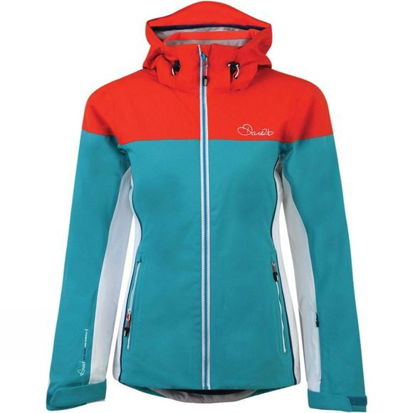 Dare 2 b Womens Invoke II Jacket Sea Breeze Blue/High Risk Red