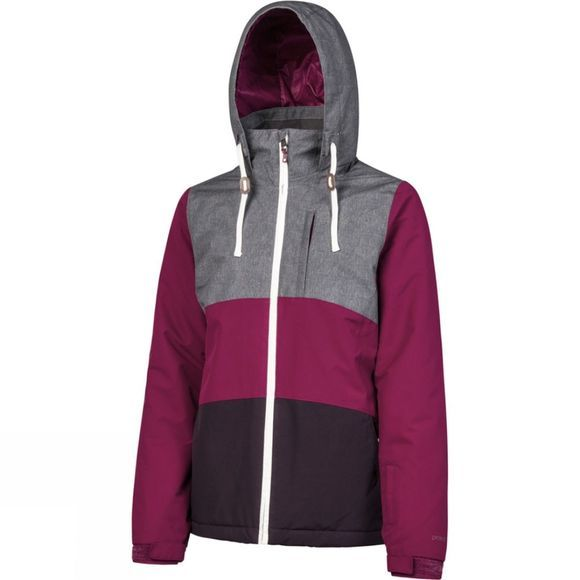 Protest Womens Clear Snowjacket Beet Red