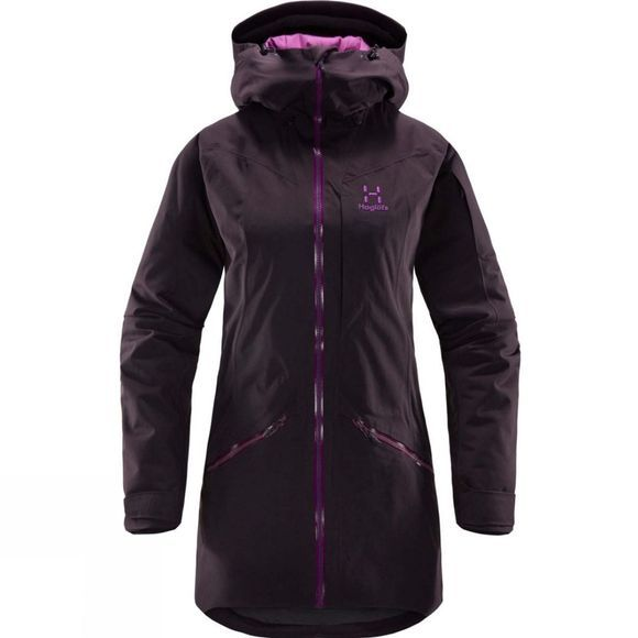 Haglofs Womens Niva Insulated Parka Acai Berry