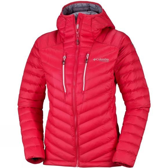 Columbia Womens Altitude Tracker Hooded Jacket Red Camellia