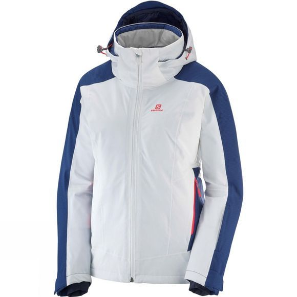 Salomon Womens Brilliant Jacket White/Medieval Blue