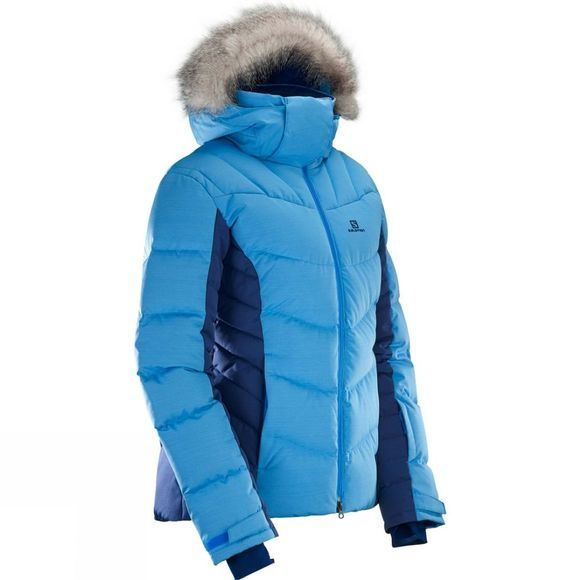 Salomon Womens Icetown Jacket Hawaiian Surf/Medieval Blue