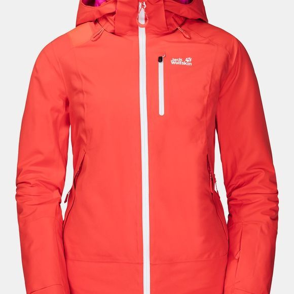 Jack Wolfskin Womens Big White Jacket Orange Coral