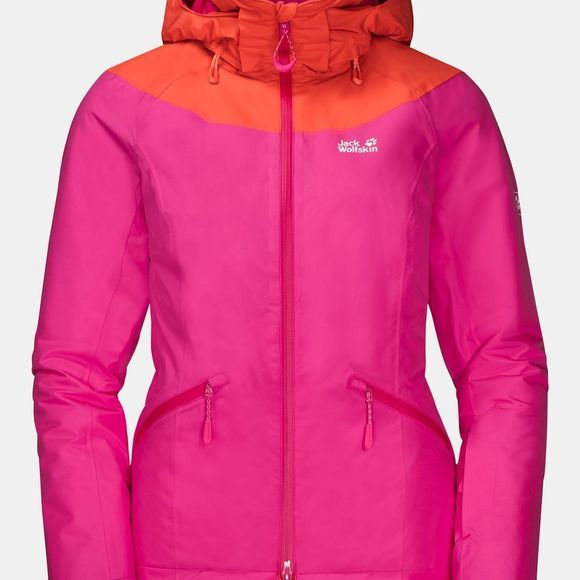 Jack Wolfskin Womens Powder Mountain Jacket Pink Fuchsia