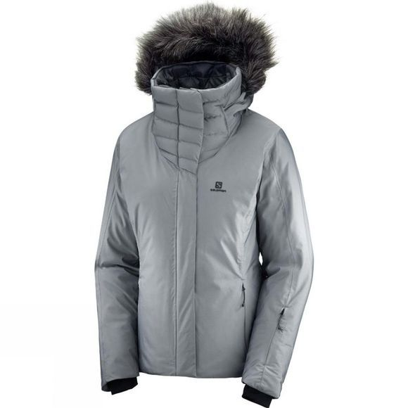 Salomon Womens Icehearty Jacket Quiet Shade