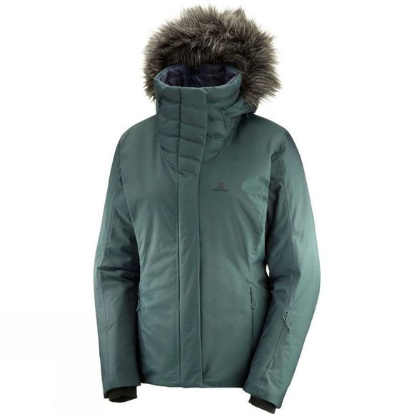 Salomon Womens Icehearty Jacket Green Gables