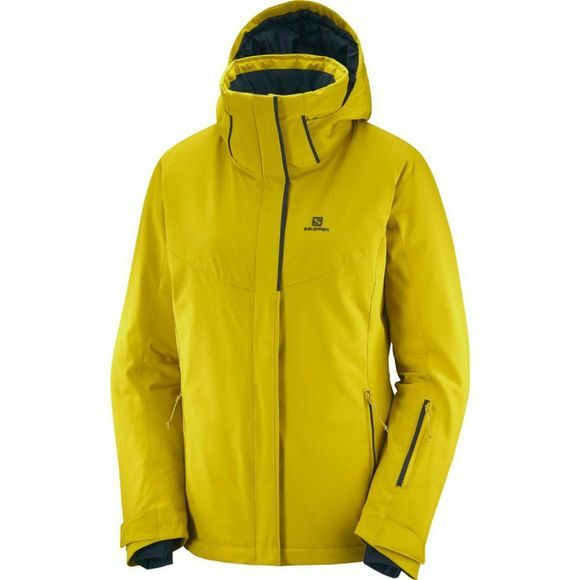 Salomon Womens Stormpunch Jacket Golden Palm