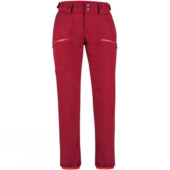 Marmot Women's Schussing Featherless Pant Sienna Red