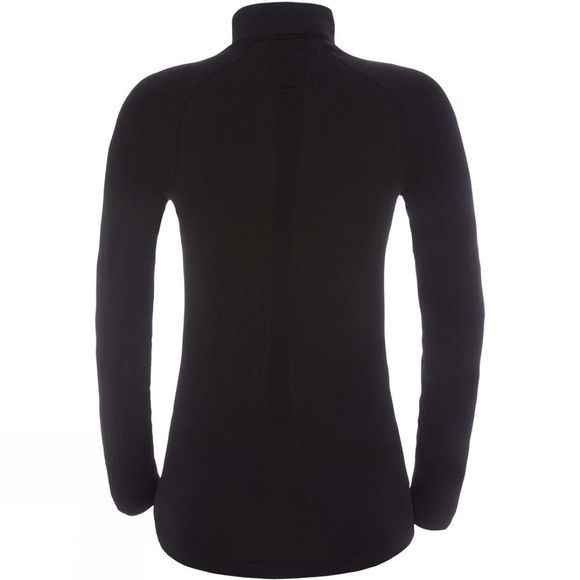 The North Face Womens Hybrid L/S Zip Neck Top TNF Black