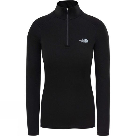 The North Face Womens Warm L/S Zip Neck Top TNF Black