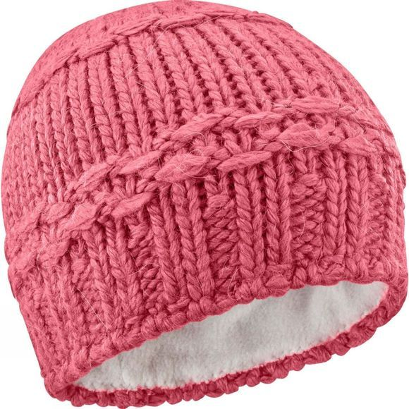 Salomon Womens Diamond Beanie Garnet Rose