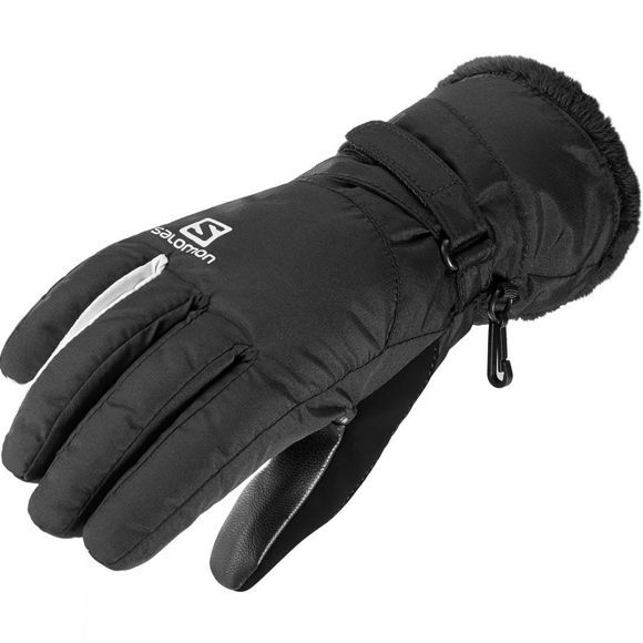 Salomon Womens Force Dry Glove Black/White