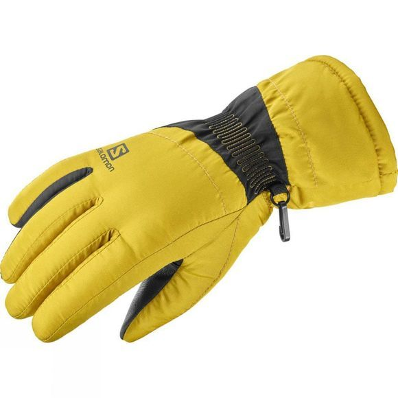Salomon Womens Force Ski Glove Golden Palm/Black