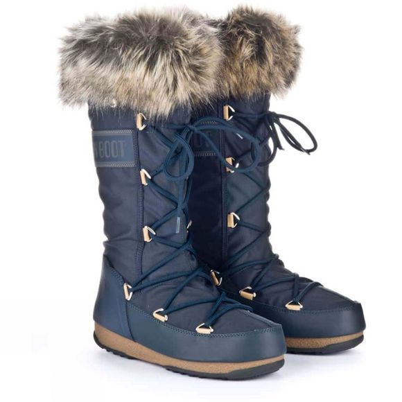Moon Boots Womens Monaco WP Boot Denim blue