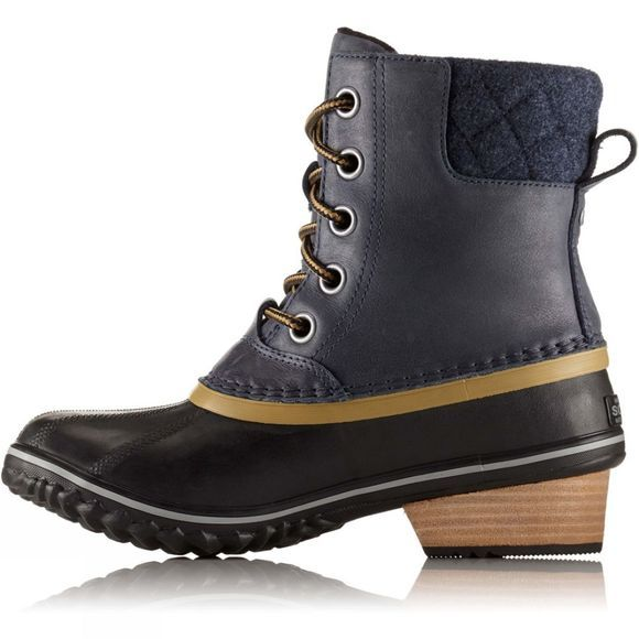 Sorel Womens Slimpack II Lace Duck Boot Collegiate Navy / Glare
