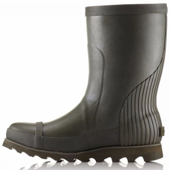 Sorel Womens Joan Rain Short Boot Nori / Zest