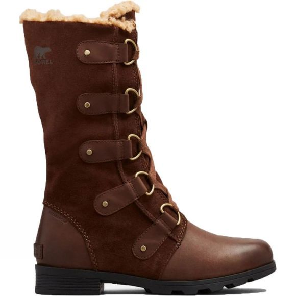 Sorel Womens Emelie Lace Boot Veg Tan-Tobacco