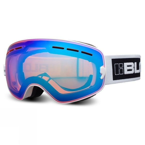 Bloc Small Fit Moon Goggle Matt White/Brown Blue Mirror