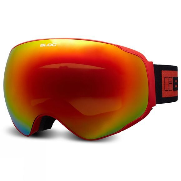 Bloc Evolution Goggle Matt Red/Dark Brown Red Mirror