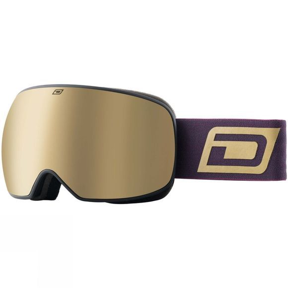 Dirty Dog Mens Mutant Prophecy Goggle Gold Matte Black / Gold Mirror & Yellow Multi