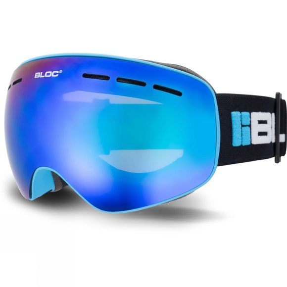 Bloc Small Fit Moon Goggle Matt Blue / Brown Blue Mirror