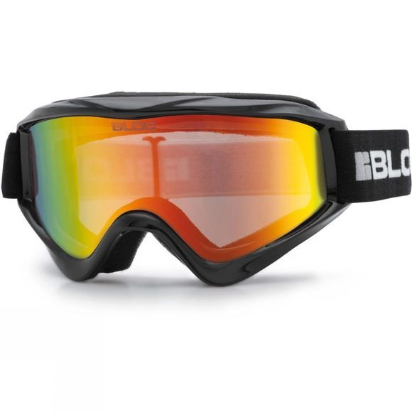 Bloc Kids Spark Goggle Shiny Black / Dark Brown Red Mirror