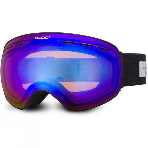 Bloc Kids Moon 3 Goggles Matt Black/Orange Blue Mirror