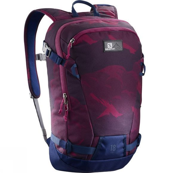 Salomon Side 18 Rucksack Beet Red/Medieval Blue