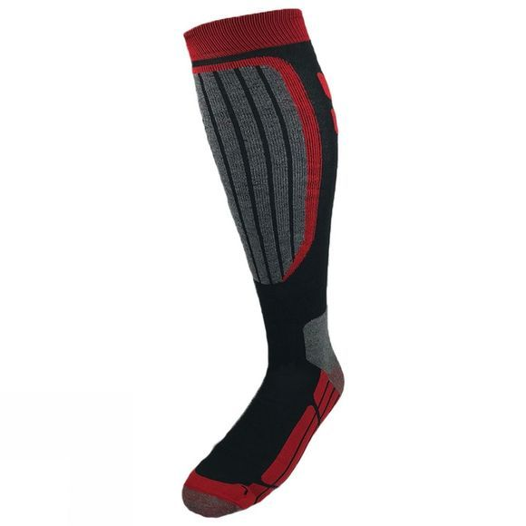 Snow and Rock Mens Performance Zone Socks Black/Grey/Red
