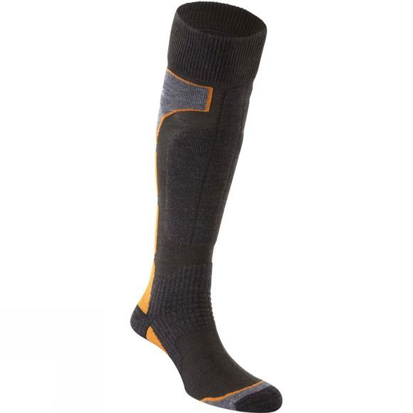 Snow and Rock Mens Board Zone Socks Dark Grey/Grey/Bright Orange