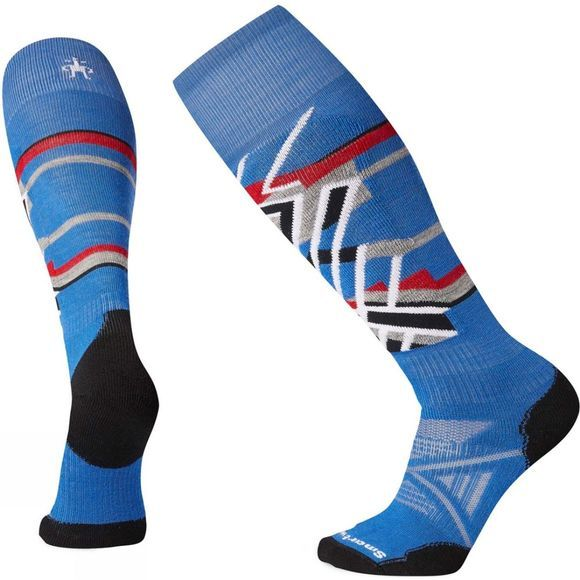 SmartWool PHD Ski Meduim Pattern Socks Bright Blue