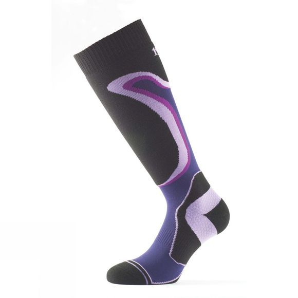 1000 Mile Womens Ski & Snowboarding  Sock Purple/Black