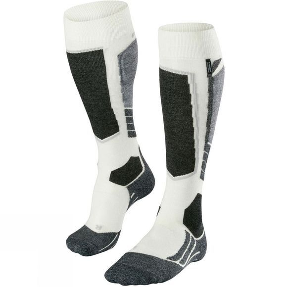Falke Womens SK2 Cashmere Ski Socks White          /Patterned